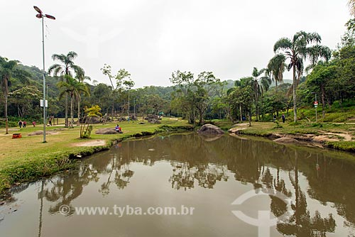 Rio Tamanduateí no Parque Ecológico Gruta Santa Luzia  - Mauá - São Paulo (SP) - Brasil