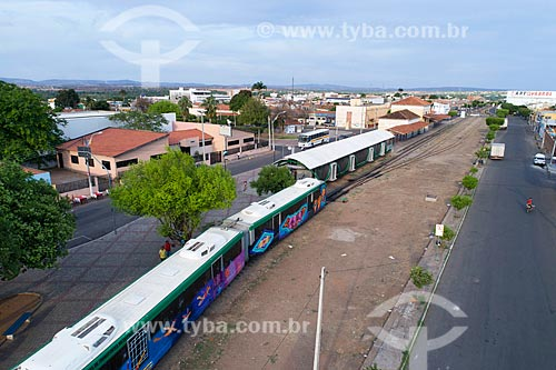 Foto feita com drone da estação Juazeiro do Norte do Veículo leve sobre trilhos do Cariri  - Juazeiro do Norte - Ceará (CE) - Brasil