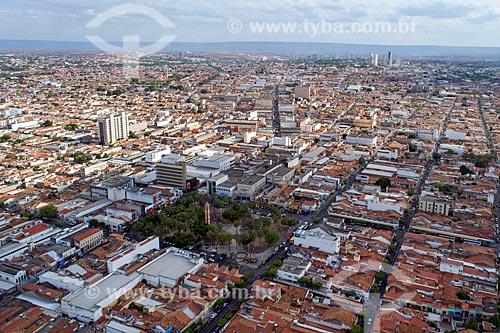 Foto feita com drone da cidade de Juazeiro do Norte com a Praça Padre Cícero  - Juazeiro do Norte - Ceará (CE) - Brasil