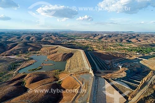 Foto feita com drone do Reservatório de Jati - parte do Projeto de Integração do Rio São Francisco com as bacias hidrográficas do Nordeste Setentrional  - Jati - Ceará (CE) - Brasil