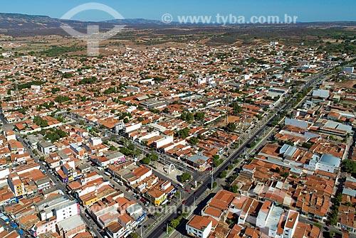 Foto feita com drone de trecho urbano da Rodovia Santos Dumont (BR-116) na cidade de brejo Santo  - Brejo Santo - Ceará (CE) - Brasil