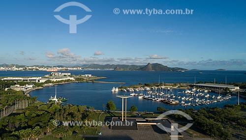 Foto feita com drone da Marina da Glória  - Rio de Janeiro - Rio de Janeiro (RJ) - Brasil