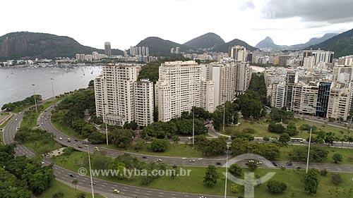 Foto feita com drone da Avenida Infante Dom Henrique no Aterro do Flamengo próximo ao Morro da Viúva  - Rio de Janeiro - Rio de Janeiro (RJ) - Brasil