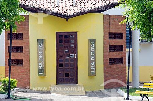 Telecentro da Prefeitura de Santana do Cariri conhecido como Ilha Digital  - Santana do Cariri - Ceará (CE) - Brasil
