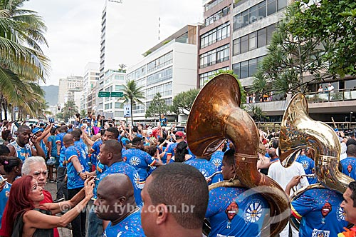 Desfile do bloco de carnaval de rua Banda de Ipanema na Avenida Vieira Souto  - Rio de Janeiro - Rio de Janeiro (RJ) - Brasil