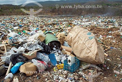 Detalhe do lixão na cidade de Barbalha  - Barbalha - Ceará (CE) - Brasil
