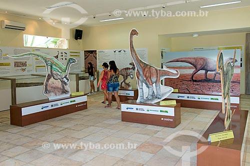 Interior do museu no Monumento natural do Vale dos Dinossauros  - Sousa - Paraíba (PB) - Brasil