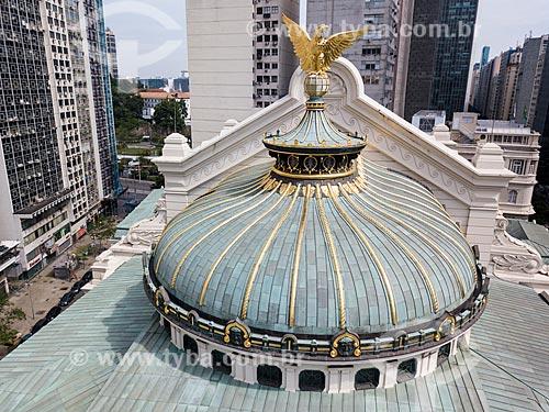 Foto feita com drone da águia no telhado do Theatro Municipal do Rio de Janeiro (1909)  - Rio de Janeiro - Rio de Janeiro (RJ) - Brasil