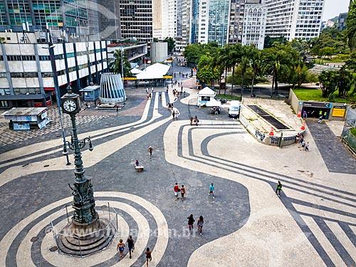 Foto feita com drone do Largo da Carioca  - Rio de Janeiro - Rio de Janeiro (RJ) - Brasil