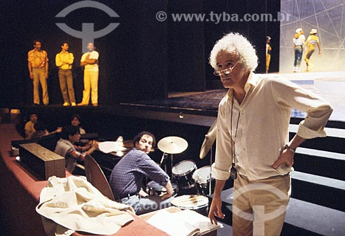 Diretor teatral Flavio Rangel - anos 80  - Rio de Janeiro - Rio de Janeiro (RJ) - Brasil