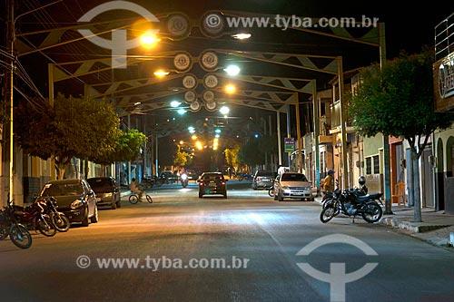 Vista de rua da cidade de Milagres  - Milagres - Ceará (CE) - Brasil