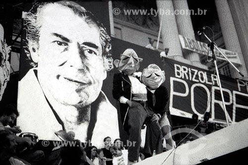 Comício da campanha Leonel Brizola ao governo do Estado do Rio de Janeiro  - Rio de Janeiro - Rio de Janeiro (RJ) - Brasil