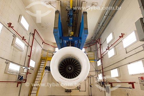Teste de turbina de avião na GE Celma - Companhia Eletromecânica Celma  - Petrópolis - Rio de Janeiro (RJ) - Brasil
