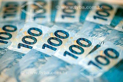 Moeda Brasileira - Real - notas de 100 reais  - Rio de Janeiro - Rio de Janeiro (RJ) - Brasil