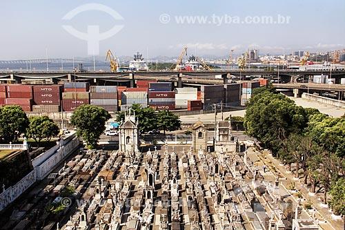 Vista geral do Cemitério da Ordem Terceira do Carmo  - Rio de Janeiro - Rio de Janeiro (RJ) - Brasil