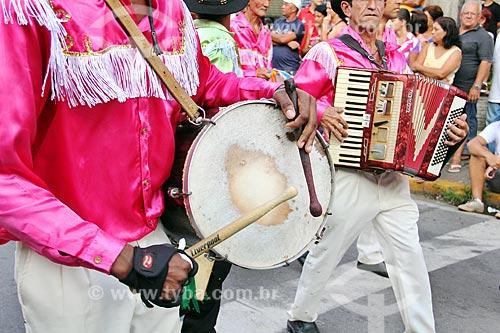 Apresentação de congada durante a Festa de São Benedito  - Aparecida - São Paulo (SP) - Brasil