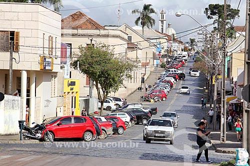 Tráfego na Rua Barão do Rio Branco  - Lapa - Paraná (PR) - Brasil