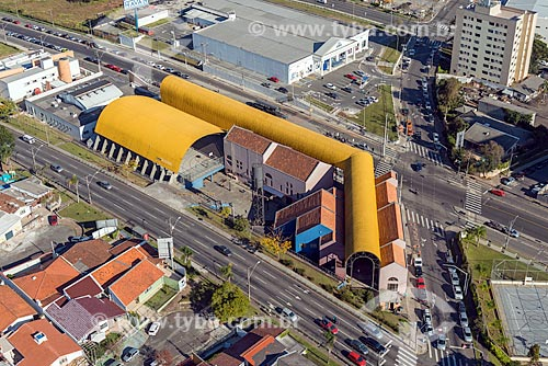 Foto aérea da Rua da Cidadania - Boa Vista - com a Lojas Havan ao fundo  - Curitiba - Paraná (PR) - Brasil