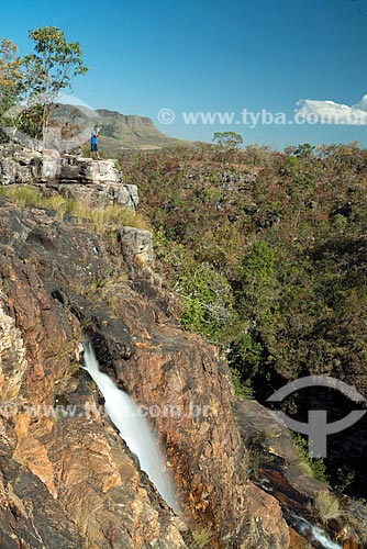 Cachoeira Almécegas I no Parque Nacional da Chapada dos Veadeiros  - Alto Paraíso de Goiás - Goiás (GO) - Brasil