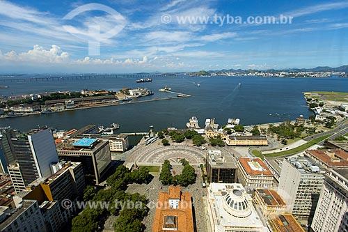 Foto feita com drone da Praça XV de Novembro  - Rio de Janeiro - Rio de Janeiro (RJ) - Brasil