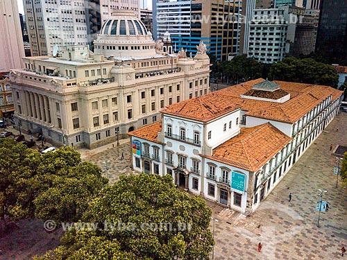Foto feita com drone do Paço Imperial (1743) com a Assembleia Legislativa do Estado do Rio de Janeiro (ALERJ) à esquerda  - Rio de Janeiro - Rio de Janeiro (RJ) - Brasil