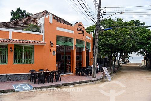 Fachada de bar na Ilha de Paquetá  - Rio de Janeiro - Rio de Janeiro (RJ) - Brasil