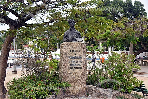 Busto de Pedro Bruno (1948) - poeta, músico, pintor e escultor nascido na Ilha de Paquetá  - Rio de Janeiro - Rio de Janeiro (RJ) - Brasil