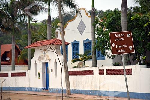 Vista da fachada de casario na orla da Praia dos Tamoios  - Rio de Janeiro - Rio de Janeiro (RJ) - Brasil