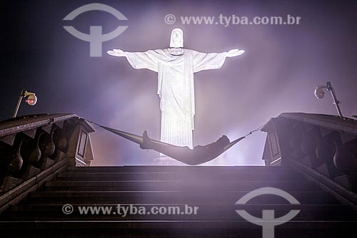 Rede no mirante do Cristo Redentor  - Rio de Janeiro - Rio de Janeiro (RJ) - Brasil