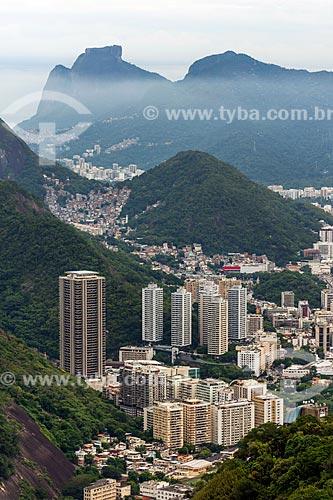 Vista do Torre do Rio Sul com a Pedra da Gávea a partir do Pão de Açúcar  - Rio de Janeiro - Rio de Janeiro (RJ) - Brasil
