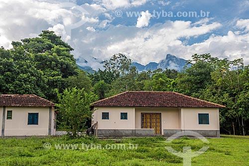 Fachada das Casas de Pesquisa na Reserva Ecológica de Guapiaçu  - Cachoeiras de Macacu - Rio de Janeiro (RJ) - Brasil