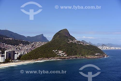 Foto aérea do Morro Dois Irmãos  - Rio de Janeiro - Rio de Janeiro (RJ) - Brasil