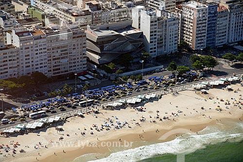 Foto aérea do Museu da Imagem e do Som do Rio de Janeiro (MIS) na orla da Praia de Copacabana  - Rio de Janeiro - Rio de Janeiro (RJ) - Brasil