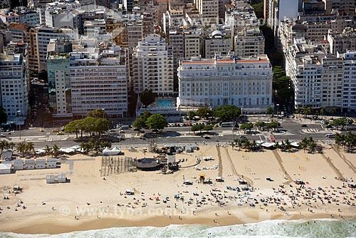 Foto aérea do Hotel Copacabana Palace (1923)  - Rio de Janeiro - Rio de Janeiro (RJ) - Brasil