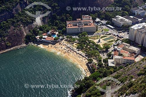 Foto aérea da Praia Vermelha  - Rio de Janeiro - Rio de Janeiro (RJ) - Brasil