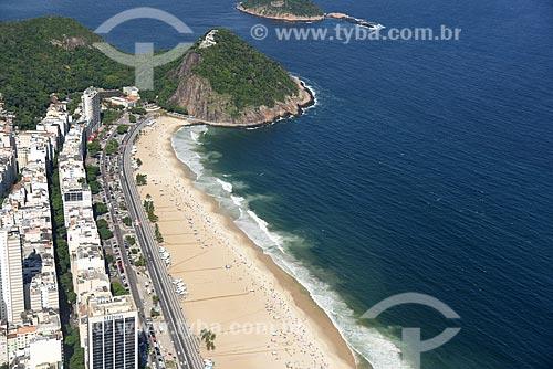 Foto aérea da Praia do Leme  - Rio de Janeiro - Rio de Janeiro (RJ) - Brasil
