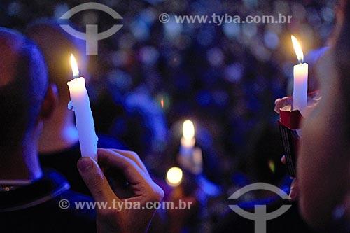 Manifestação pelo assassinato da Vereadora Marielle Franco na Cinelândia  - Rio de Janeiro - Rio de Janeiro (RJ) - Brasil