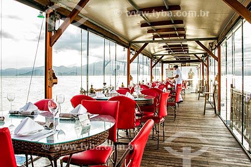 Píer do Restaurante Ostradamus na Praia do Ribeirão da Ilha  - Florianópolis - Santa Catarina (SC) - Brasil