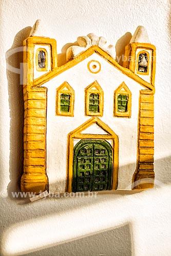 Detalhe de artesanato em cerâmica - Igreja - no Ribeirão da Ilha  - Florianópolis - Santa Catarina (SC) - Brasil