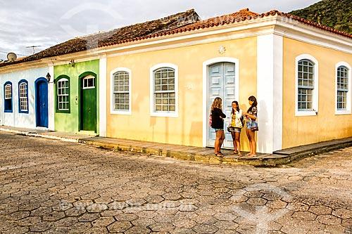 Fachada de casarios no Ribeirão da Ilha  - Florianópolis - Santa Catarina (SC) - Brasil