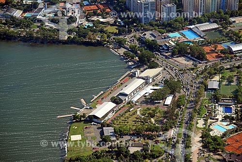 Foto aérea do Estádio de Remo da Lagoa  - Rio de Janeiro - Rio de Janeiro (RJ) - Brasil