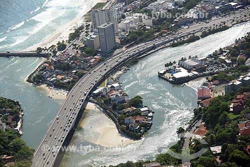 Foto aérea da Ponte da Joatinga  - Rio de Janeiro - Rio de Janeiro (RJ) - Brasil