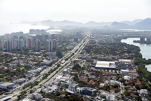 Foto aérea da Avenida das Américas  - Rio de Janeiro - Rio de Janeiro (RJ) - Brasil