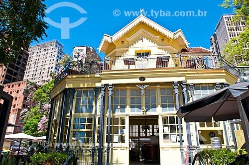 Fachada do Chalé da Praça XV de Novembro - atualmente restaurante  - Porto Alegre - Rio Grande do Sul (RS) - Brasil