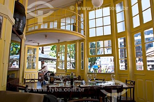Interior do Chalé da Praça XV de Novembro - atualmente restaurante  - Porto Alegre - Rio Grande do Sul (RS) - Brasil