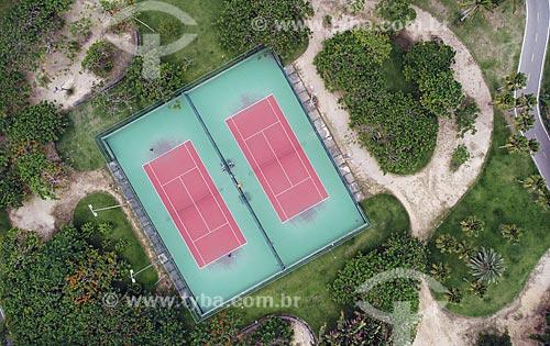 Foto feita com drone de quadras de tênis no Aterro do Flamengo  - Rio de Janeiro - Rio de Janeiro (RJ) - Brasil