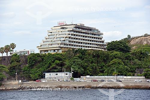 Vista do Mercure Niterói Orizzonte Hotel durante o Rio Boulevard Tour - passeio turístico de barco na Baía de Guanabara  - Niterói - Rio de Janeiro (RJ) - Brasil