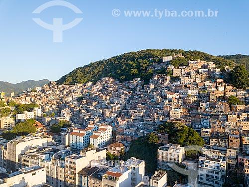 Foto feita com drone da favela Pavão Pavãozinho  - Rio de Janeiro - Rio de Janeiro (RJ) - Brasil