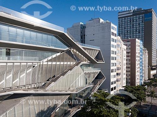 Foto feita com drone da fachada do Museu da Imagem e do Som do Rio de Janeiro (MIS)  - Rio de Janeiro - Rio de Janeiro (RJ) - Brasil