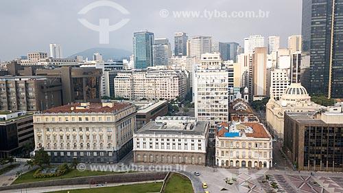 Foto feita com drone da Praça Marechal Âncora com os prédios do centro do Rio de Janeiro ao fundo  - Rio de Janeiro - Rio de Janeiro (RJ) - Brasil